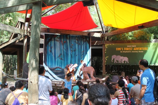 Non-animal theater show with puppets at Bronx Zoo